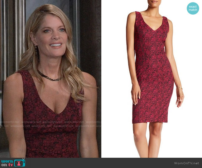 ZAC Zac Posen Pia Dress worn by Nina Reeves (Michelle Stafford) on General Hospital
