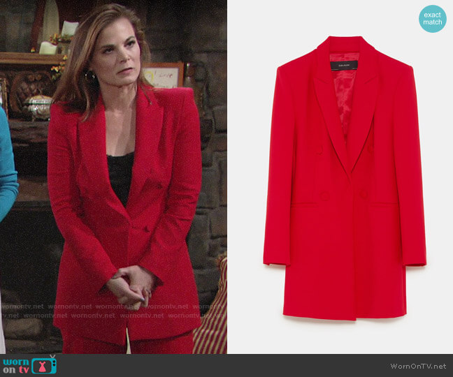 Zara Tailored Frock Coat worn by Phyllis Newman (Gina Tognoni) on The Young & the Restless