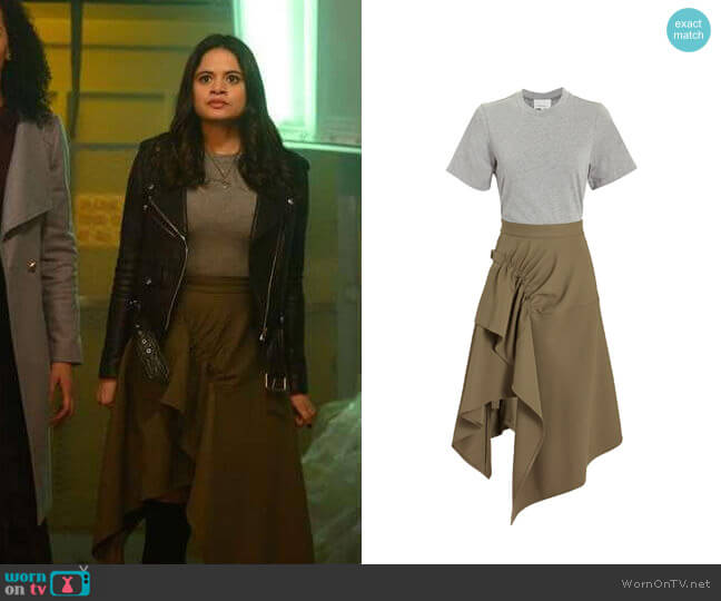 3.1 Phillip Lim Handkerchief Dress worn by Mel Vera (Melonie Diaz) on Charmed