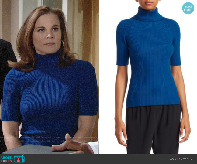 3.1 Phillip Lim Ribbed Turtleneck worn by Phyllis Newman (Gina Tognoni) on The Young & the Restless