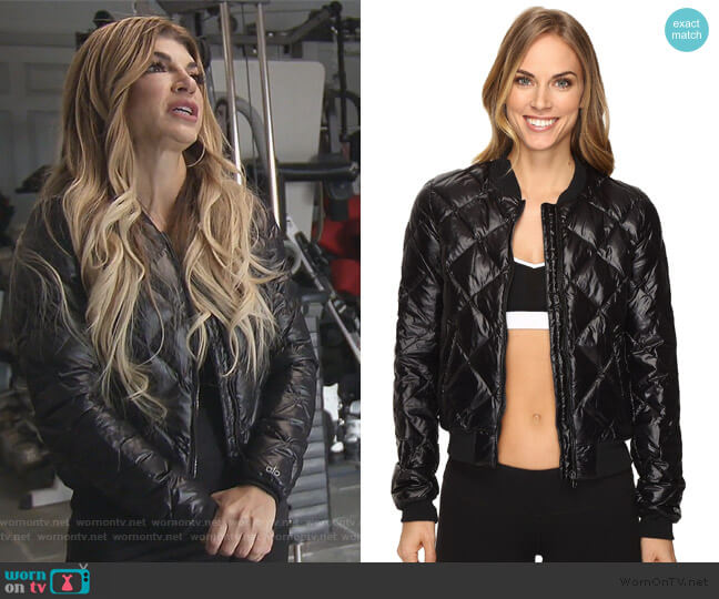 Idol Bomber Jacket by ALO worn by Teresa Giudice on The Real Housewives of New Jersey