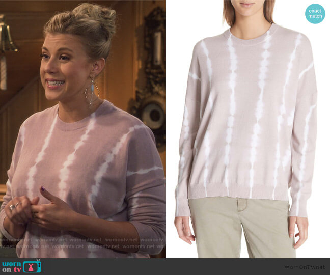 Tie Dye Cotton & Cashmere Sweater by Anthony Thomas Melillo worn by Stephanie Tanner (Jodie Sweetin) on Fuller House