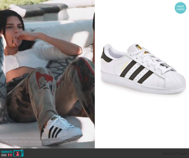 Superstar Sneakers by Adidas worn by Kendall Jenner  on Keeping Up with the Kardashians