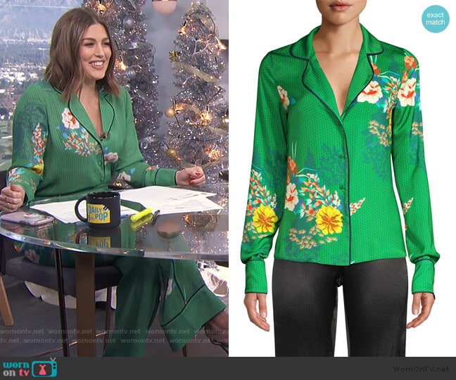 Brisa Floral Blouse by Alexis worn by Carissa Loethen Culiner  on E! News