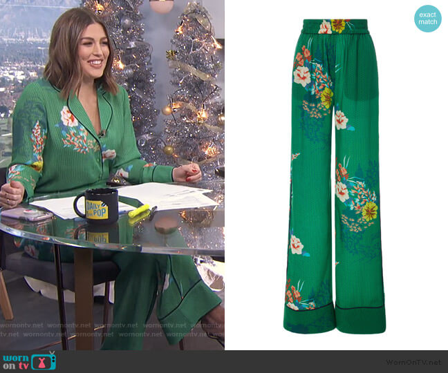 Desowa Floral Wide Leg Pants by Alexis worn by Carissa Loethen Culiner  on E! News