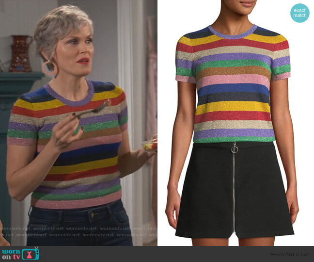 Baylor Top by Alice + Olivia worn by Bonnie (Stephnie Weir) on Happy Together