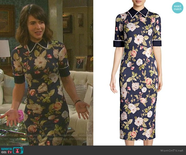 Delora Dress by Alice + Olivia worn by Sarah Horton (Linsey Godfrey) on Days of our Lives
