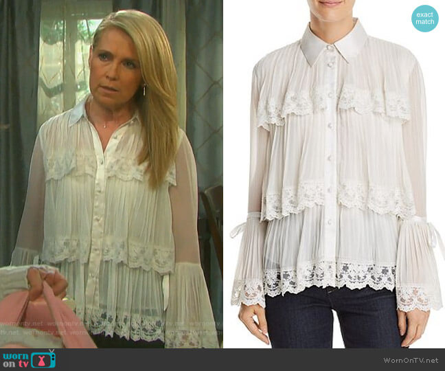 Kartwright Blouse by Alice + Olivia worn by Jennifer Horton (Melissa Reeves) on Days of our Lives
