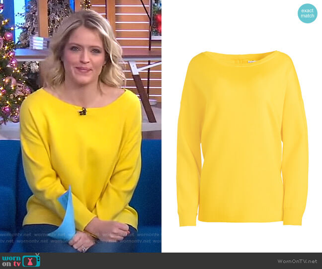 Marmont Sweater by Alice + Olivia worn by Sara Haines  on Good Morning America