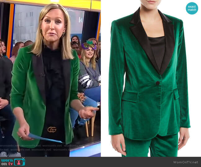 Macey Velvet Blazer by Alice + Olivia worn by Lara Spencer  on Good Morning America