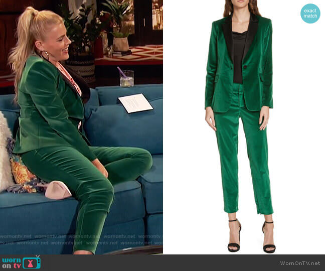 Macey Blazer and Stacey Pants by Alice + Olivia worn by Busy Philipps (Busy Philipps) on Busy Tonight