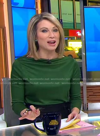 Amy's green top on Good Morning America