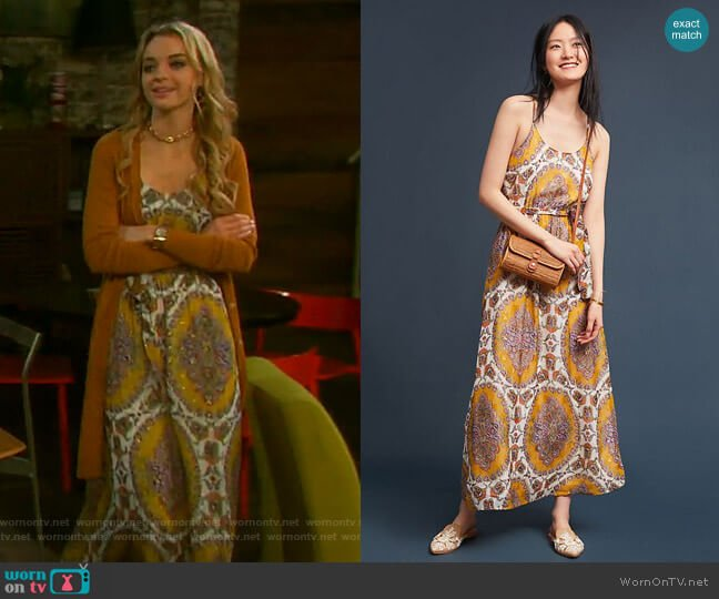 Medallion Maxi Dress by Akemi + Kin worn by Claire Brady (Olivia Keegan) on Days of our Lives
