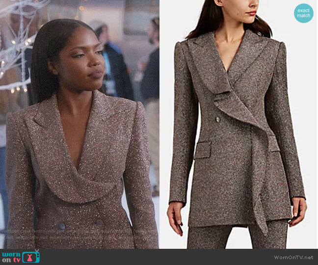 Freja Blazer by Area worn by Ryan Destiny on Star
