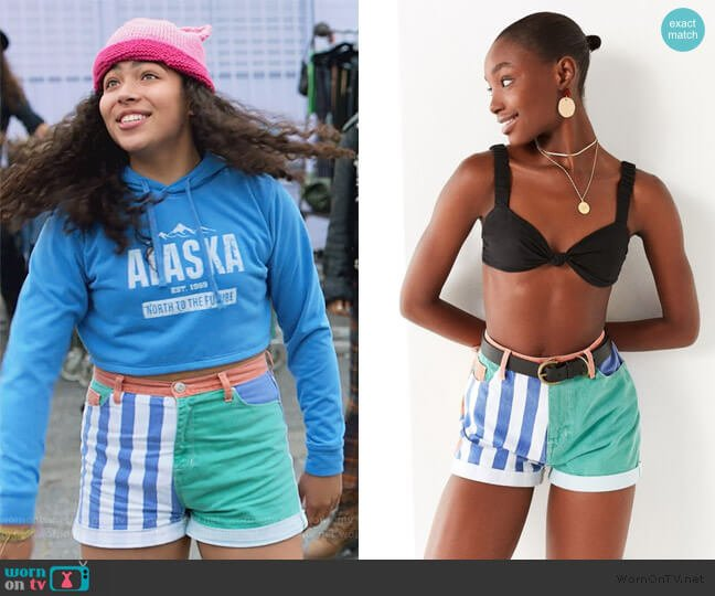 Mom High-Rise Denim Short by BDG at Urban Outfitters worn by Allegra Acosta on Marvels Runaways