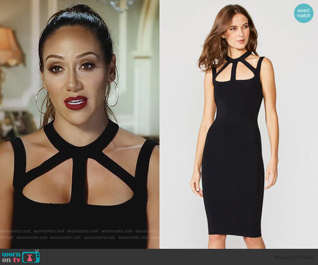Strappy Cutout Bodycon Dress by Bailey 44 worn by Melissa Gorga  on The Real Housewives of New Jersey