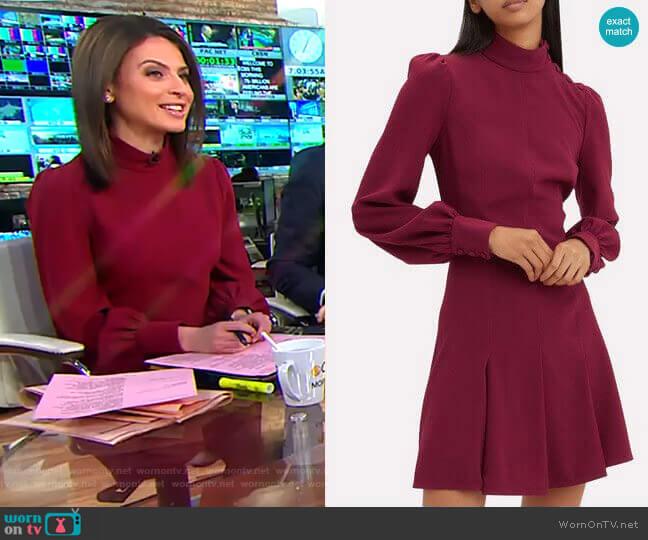Balloon Sleeve Crepe Mini Dress by Proenza Schouler worn by Bianna Golodryga on CBS This Morning