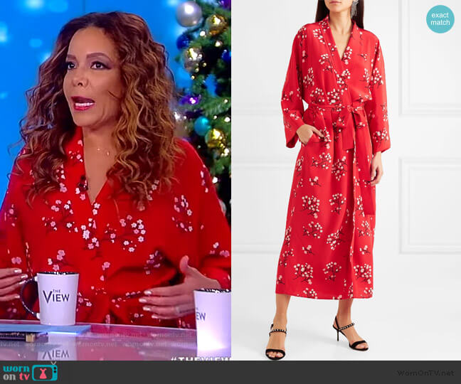 Floral-print silk crepe de chine wrap maxi dress by Bernadette worn by Sunny Hostin (Sunny Hostin) on The View