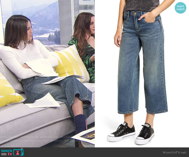 Wide Leg Crop Jeans by Blanknyc worn by Erin Lim  on E! News