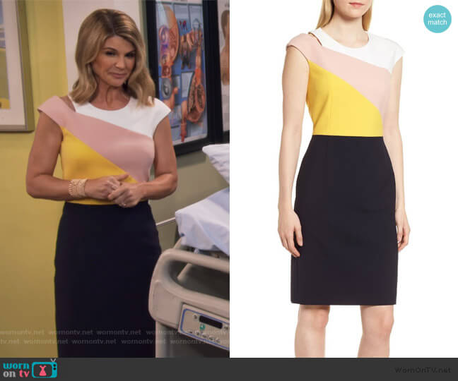 Danouk Ponte Dress by BOSS worn by Rebecca Katsopolis (Lori Loughlin) on Fuller House