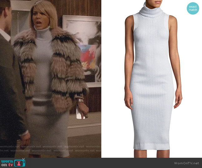 Sleeveless Turtleneck Ribbed Dress by Brandon Maxwell worn by Giselle (Nicole Ari Parker) on Empire