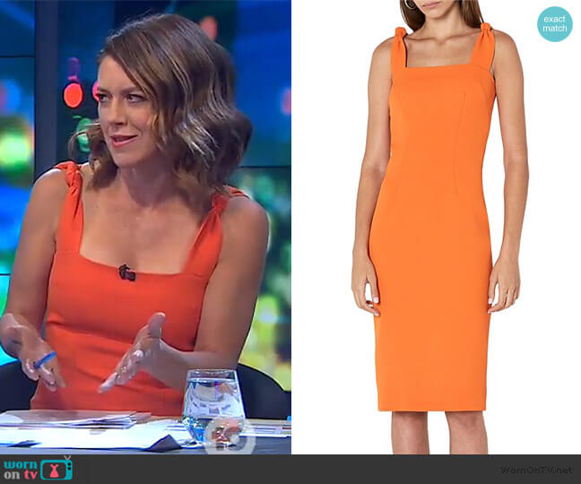 Sherbet Knot Strap Midi Dress by By Johnny  worn by Gorgi Coghlan  on The Project
