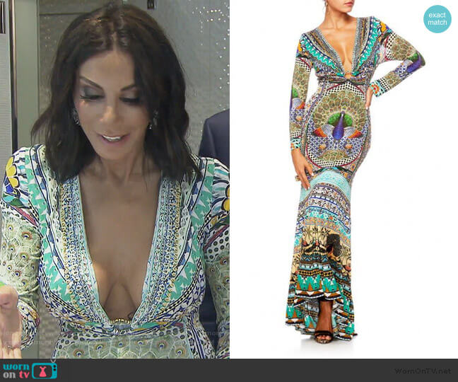 The King and I Dress by Camilla worn by Danielle Staub  on The Real Housewives of New Jersey