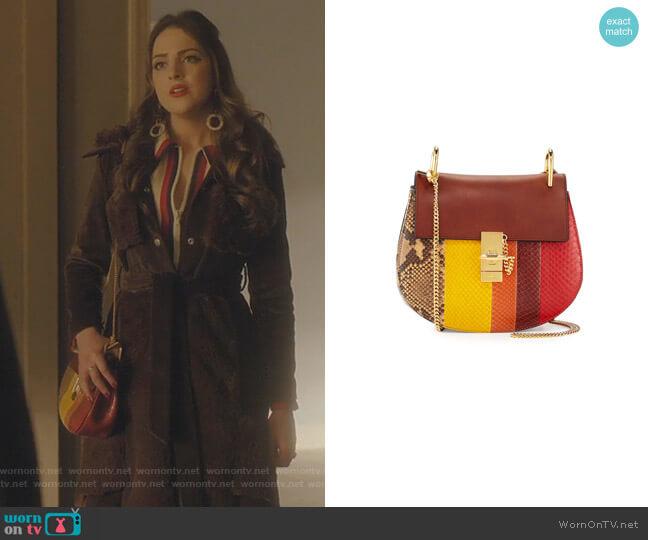 Drew Small Python Shoulder Bag by Chloe worn by Fallon Carrington (Elizabeth Gillies) on Dynasty