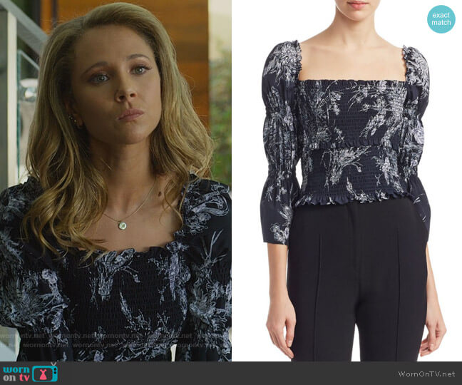 Adelaide Top by Cinq a Sept worn by Veronica Newell (Juno Temple) on Dirty John