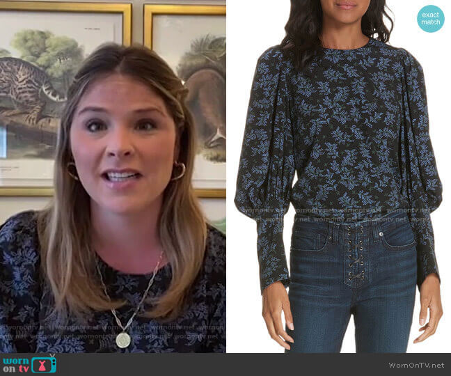 Clarke Top by Veronica Beard worn by Jenna Bush Hager  on Today