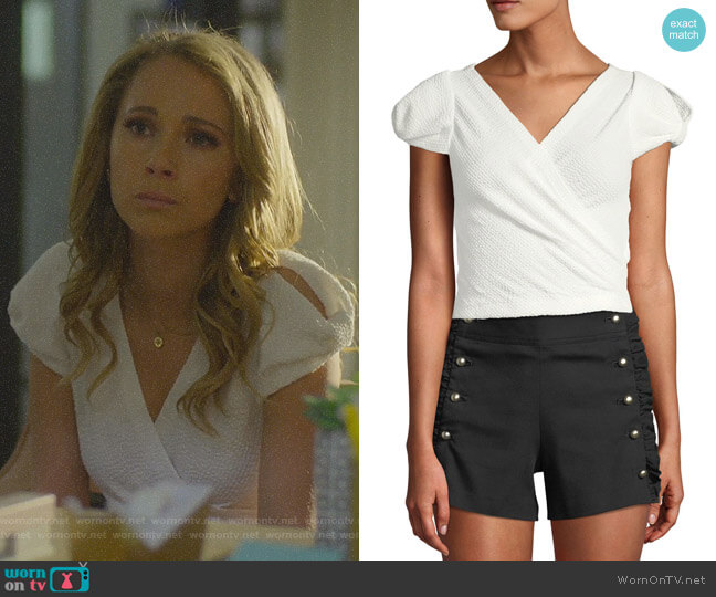 Lannah Top by Club Monaco worn by Veronica Newell (Juno Temple) on Dirty John