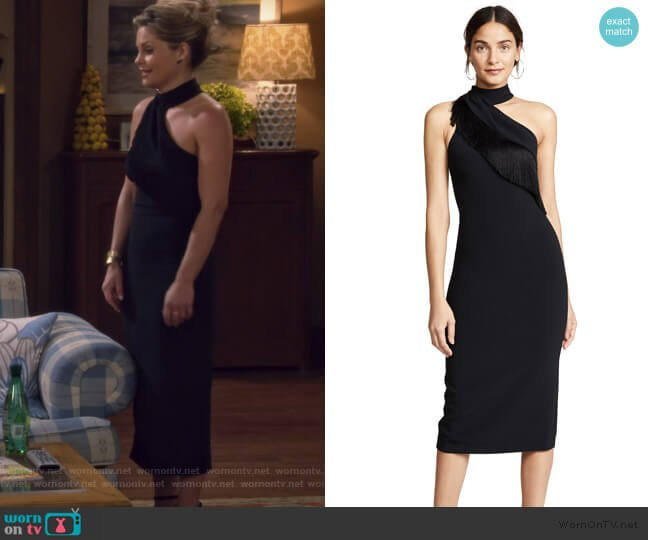 Pencil Dress with Fringe by Cushnie worn by DJ Tanner-Fuller (Candace Cameron Bure) on Fuller House