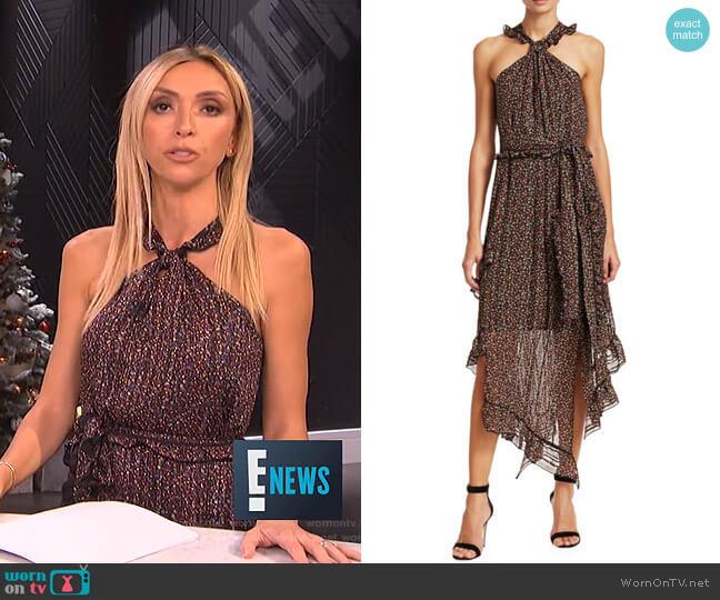 Asymmetric Floral Halter Midi Dress by Derek Lam 10 Crosby worn by Giuliana Rancic (Giuliana Rancic) on E! News