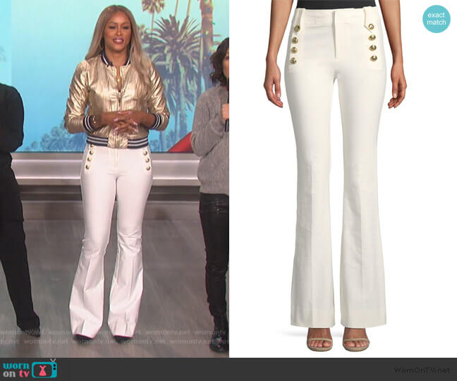 Robertson Sailor Button Flare Pants by Derek Lam 10 Crosby worn by Eve (Eve) on The Talk