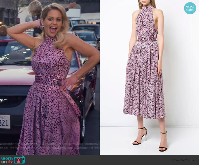 Halter Neck Dress by Diane von Furstenberg worn by DJ Tanner-Fuller (Candace Cameron Bure) on Fuller House