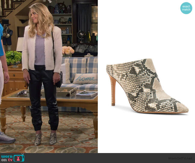 Cinda Point Toe Mules by Dolce Vita worn by DJ Tanner-Fuller (Candace Cameron Bure) on Fuller House