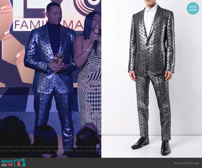 Metallic Jacquard Suit by Dolce & Gabbana worn by Lucious Lyon (Terrence Howard) on Empire