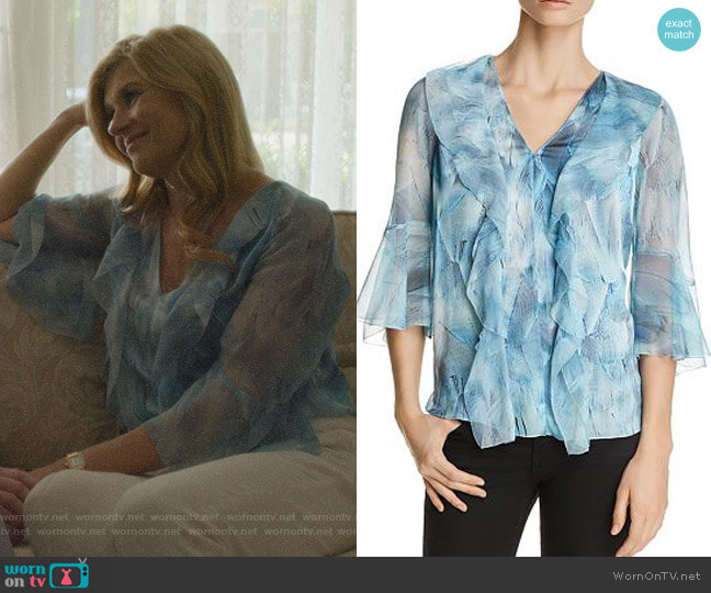 Faith Silk Ruffle Blouse by Elie Tahari worn by Debra Newell (Connie Britton) on Dirty John