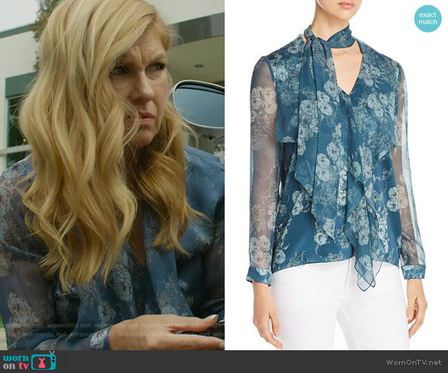 Jurnee Blouse by Elie Tahari worn by Debra Newell (Connie Britton) on Dirty John