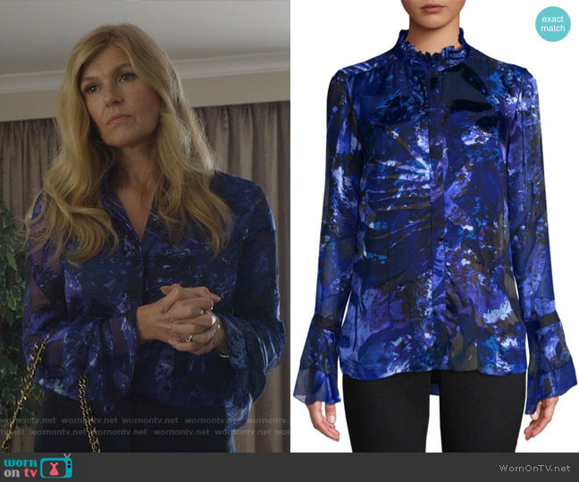 Teddie Blouse by Elie Tahari worn by Debra Newell (Connie Britton) on Dirty John