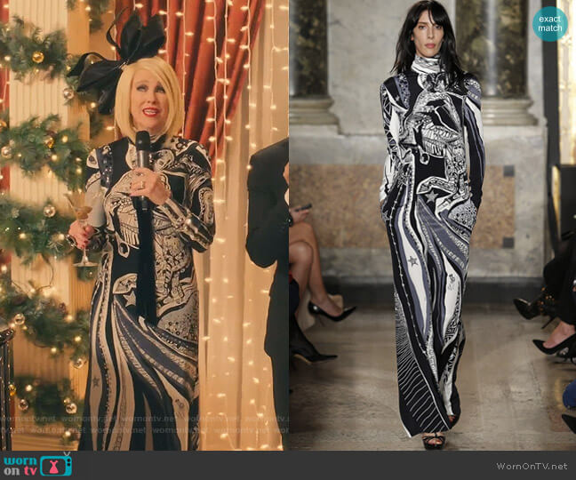 by Emilio Pucci  - Fall 2015 Ready To Wear Collection worn by Moira Rose (Catherine O'Hara) on Schitts Creek