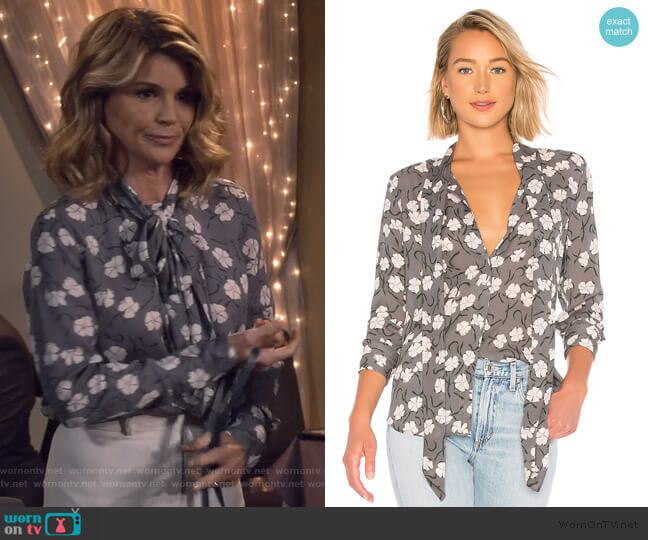 Luis Blouse by Equipment worn by Rebecca Katsopolis (Lori Loughlin) on Fuller House