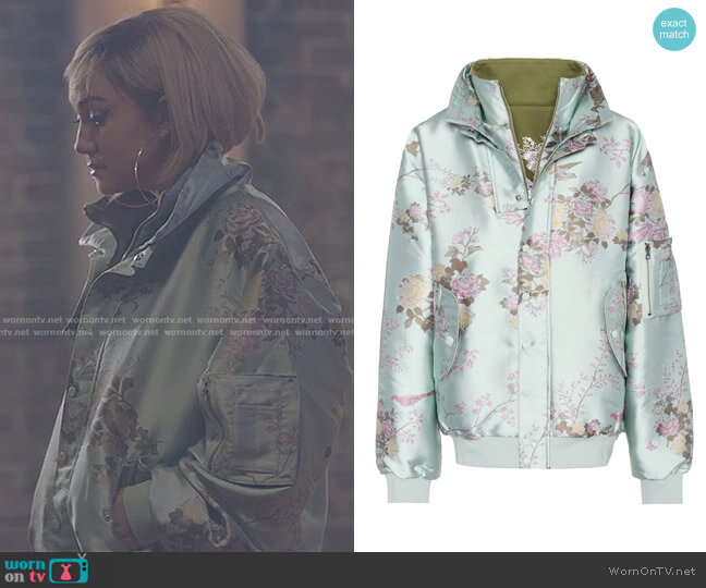 Reversible bomber jacket by Fenty by Rihanna worn by Star Davis (Jude Demorest) on Star