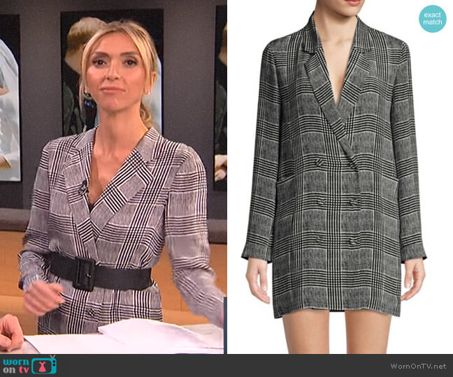 Plaid Blazer Dress by Fleur du Mal worn by Giuliana Rancic (Giuliana Rancic) on E! News