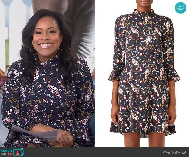 Floral Pollock Dress by Slate & Willow worn by Sheinelle Jones  on Today
