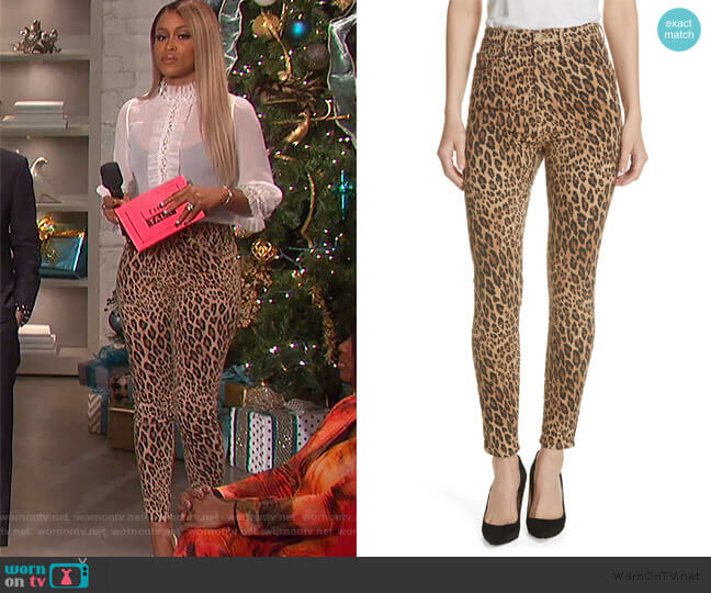 Ali High Waist Cigarette Skinny Jeans by Frame worn by Eve (Eve) on The Talk