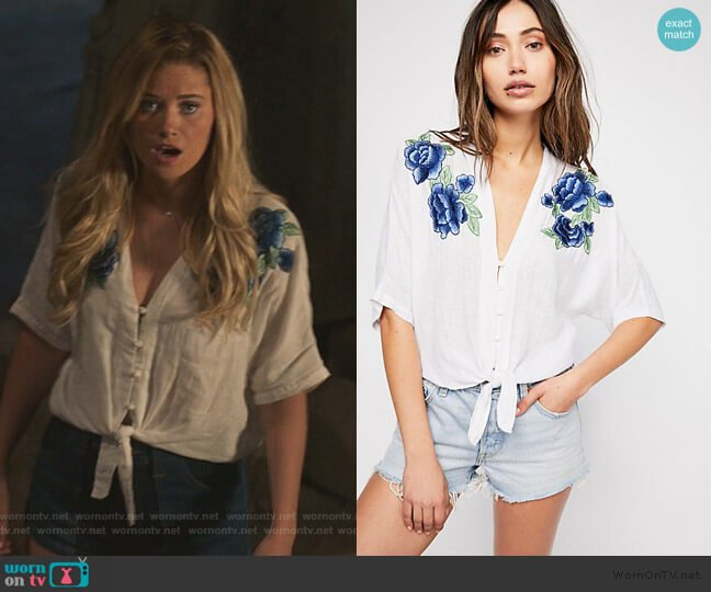 Thea Rose Embroidered Top by Rails worn by Karolina Dean (Virginia Gardner) on Marvels Runaways