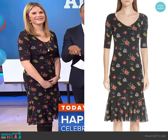 Floral Tulle Dress by Fuzzi worn by Jenna Bush Hager  on Today