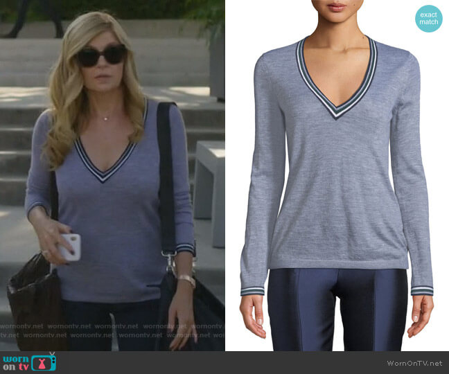Alba Sweater by Gabriela Hearst worn by Debra Newell (Connie Britton) on Dirty John