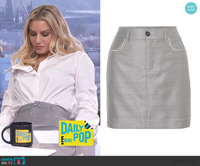 Checkered Mini Skirt by Ganni worn by Morgan Stewart  on E! News